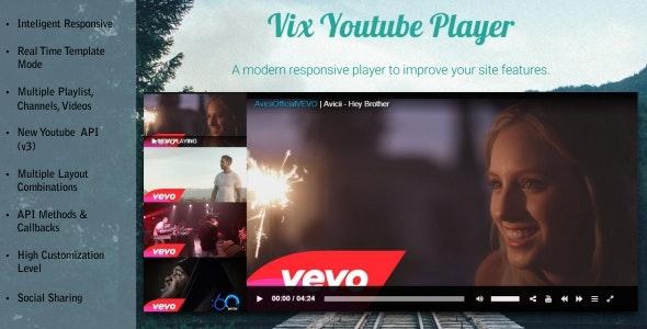 Vix Youtube Player - HTML 5 Responsive - CodeCanyon Item for Sale