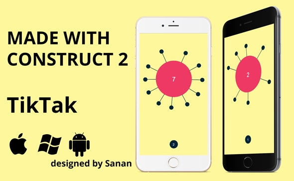 TikTak - HTML5 game. Construct 2 (.capx) + ADS - CodeCanyon Item for Sale