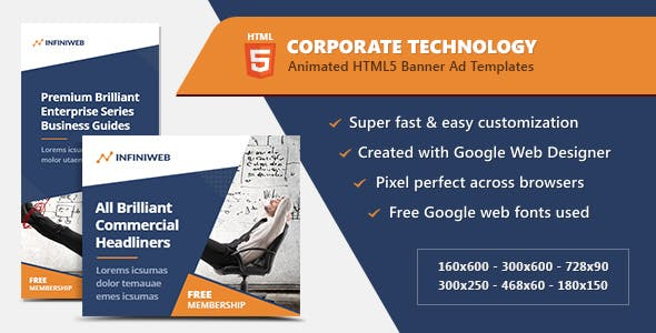 Corporate Technology Banners - HTML5 Ad Templates