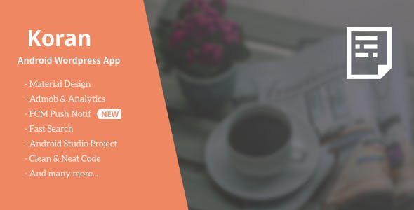 Koran - Wordpress App with Push Notification 3.5