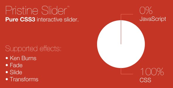 Pristine Slider: Pure CSS3 interactive slider.