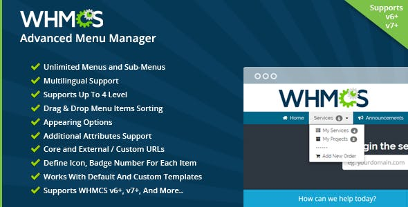 WHMCS Advanced Menu Manager