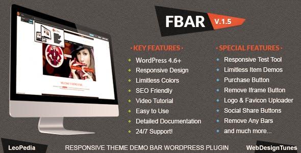 FBar - Responsive WordPress Demo Switch Bar Plugin        Nulled