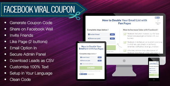 Facebook Viral Coupon - CodeCanyon Item for Sale