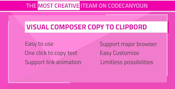 Visual Composer - Copy to Clipboard - CodeCanyon Item for Sale