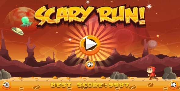 Scary Run - HTML5 Game + Android + AdMob (Construct 3 | Construct 2 | Capx) - CodeCanyon Item for Sale