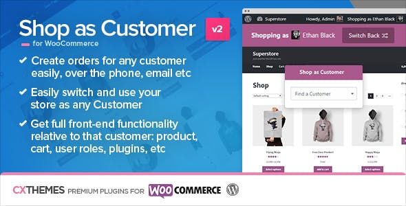 Shop as Customer for WooCommerce        Nulled