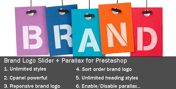Brand Logo Slider + Parallax for Prestashop