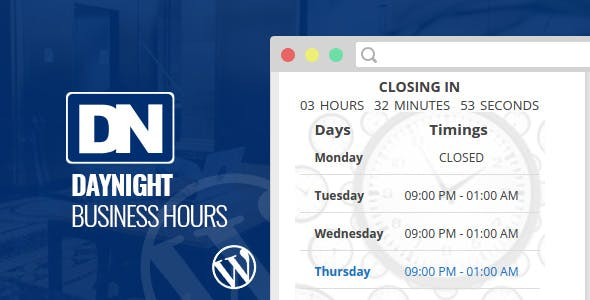 Day Night Business Hours WordPress Plugin