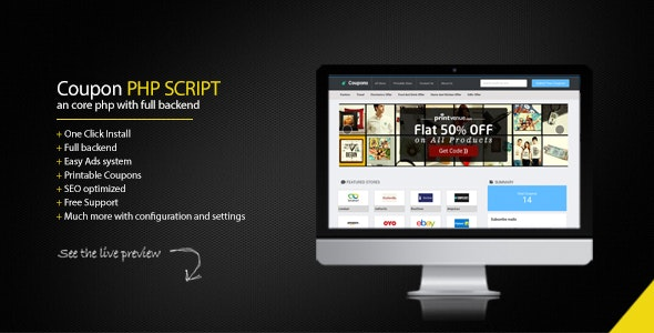 Coupon Portal PHP Script - CodeCanyon Item for Sale