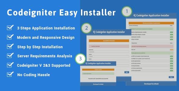 Codeigniter Installer - Version 2.X / 3.X Easy Installer