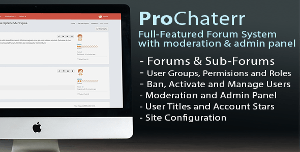 ProChaterr - Laravel Forum System - Full Featured Forum with Moderation and Admin Panel - CodeCanyon Item for Sale