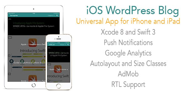 WordPress Blog App Template for iPhone and iPad