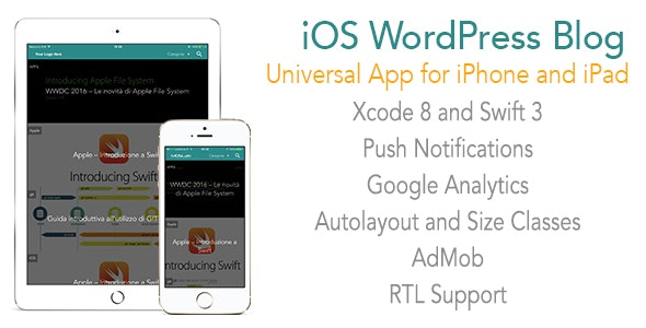 WordPress Blog App Template for iPhone and iPad - CodeCanyon Item for Sale