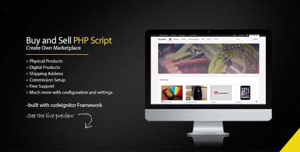 Buy and Sell PHP Script