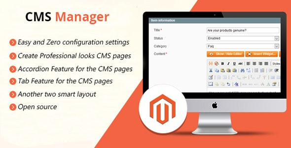CMS Manager / FAQ Manager - CodeCanyon Item for Sale