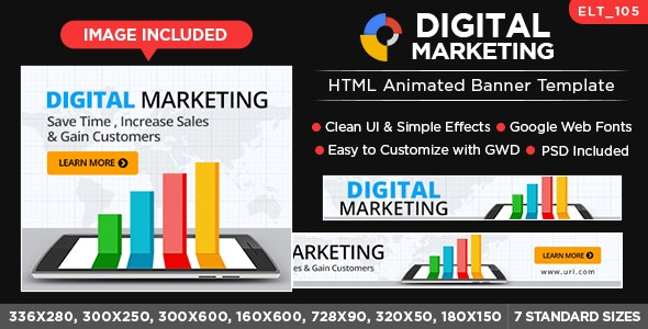 Digital Marketing HTML Banners - GWD - 7 Sizes (Elite-CC-105) - CodeCanyon Item for Sale
