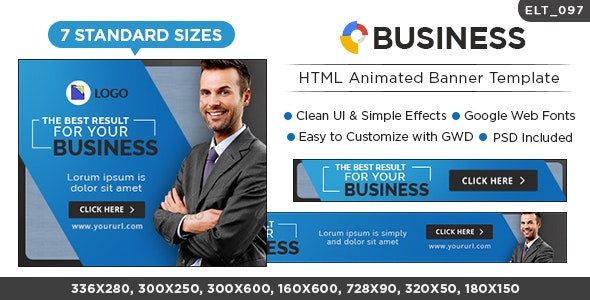 Business HTML5 Banners - GWD - 7 Sizes (Elite-CC-097) - CodeCanyon Item for Sale