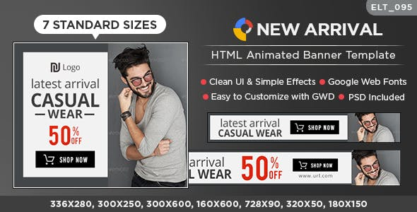 HTML5 E-Commerce Banners - GWD - 7 Sizes (Elite-CC-095)