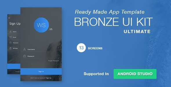 Bronze UI KIT - CodeCanyon Item for Sale