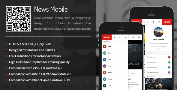 News | Sidebar Menu for Mobiles & Tablets