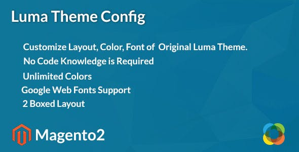 Magento2 Luma Theme Config
