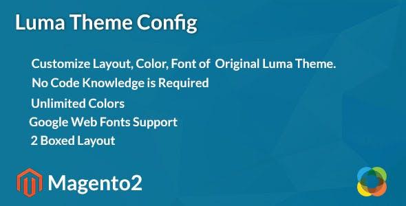 Magento2 Luma Theme Config