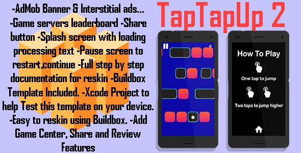 TapTapUp2 + Leaderbords + admob ads + BuildboxTemplate (new clean version) - CodeCanyon Item for Sale