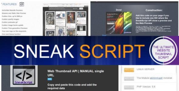 SneakScript | Web Thumbnails Api Script - CodeCanyon Item for Sale