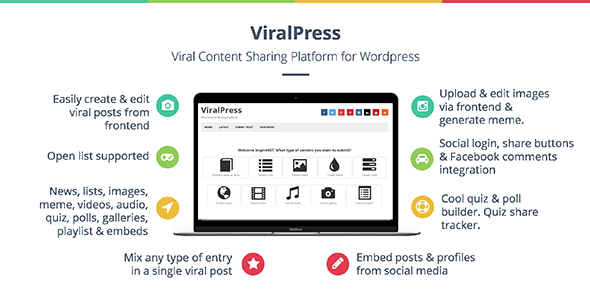 ViralPress - Viral news, lists, quiz, videos & polls plugin