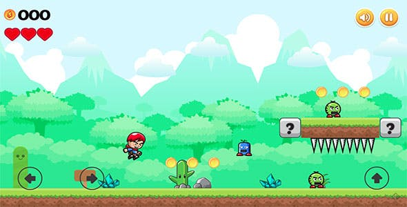 Mad Boy Adventures - HTML5 2D Side Scroller Game