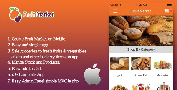 iOS Fruit Market - Local fruit store app - CodeCanyon Item for Sale