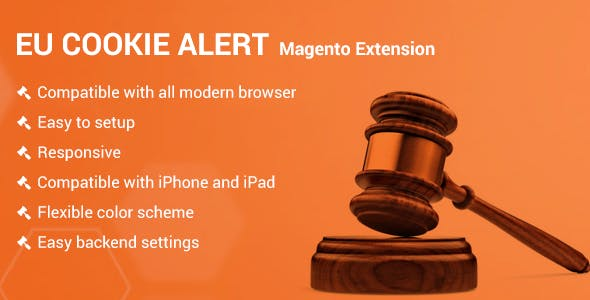 Eu Cookie Alert Magento2 extension