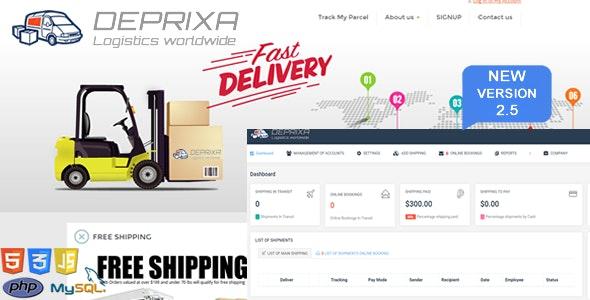 Courier Deprixa - Logistics worldwide  v2.5 - CodeCanyon Item for Sale