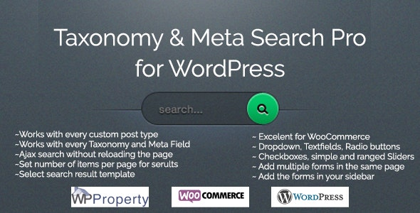 Taxonomy and Meta Search Pro for WordPress - CodeCanyon Item for Sale