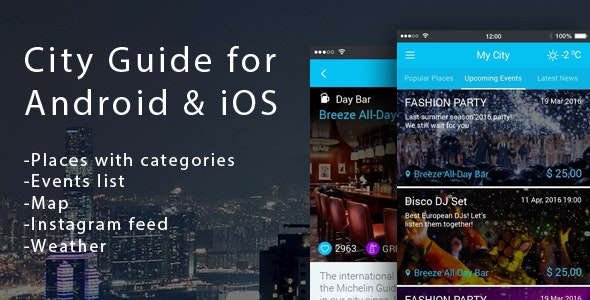 City App - directory for android & ios - CodeCanyon Item for Sale
