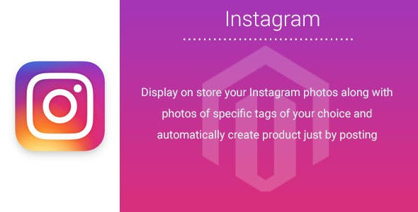 Instagram Magento2 Extension