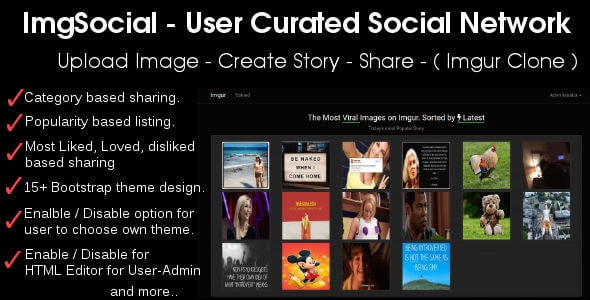 Image Story Sharing Social Network - Imgur Clone - CodeCanyon Item for Sale