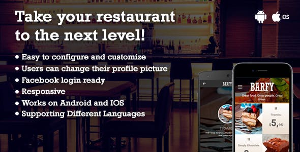 Barfy - Restaurant App
