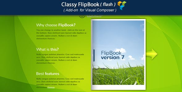 Visual Composer Add-on - Classy FlipBook(flash)