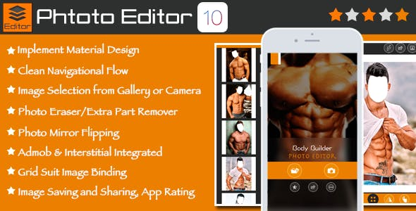 Photo Editor Template for iOS with PSD