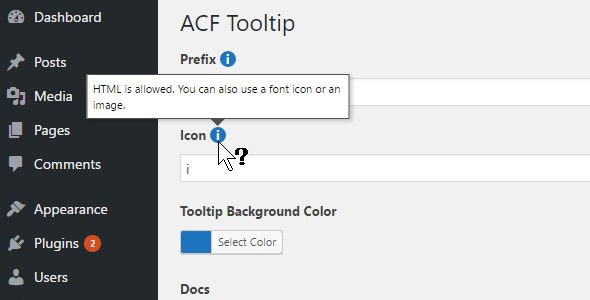 ACF Tooltip Helper - CodeCanyon Item for Sale