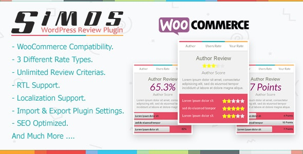 Simos - WordPress Review Plugin - CodeCanyon Item for Sale