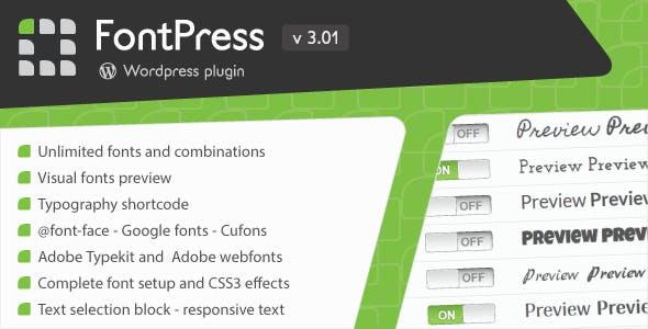 FontPress - Wordpress Font Manager        Nulled