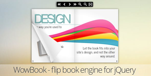 WowBook, a flipbook jQuery plugin        Nulled