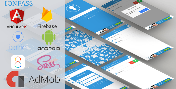 IonPass - ionic Passwords manager app with ADMOB and Firebase Backend - CodeCanyon Item for Sale