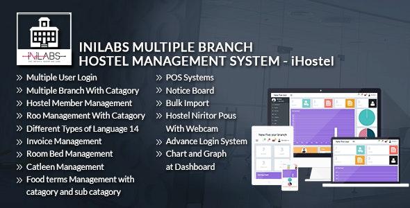 iHostel - iNiLabs Multi Branch Hostel Management System