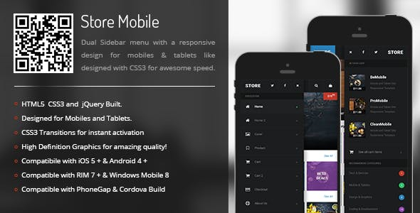 Store | Sidebar Menu for Mobiles & Tablets