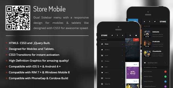 Store | Sidebar Menu for Mobiles & Tablets