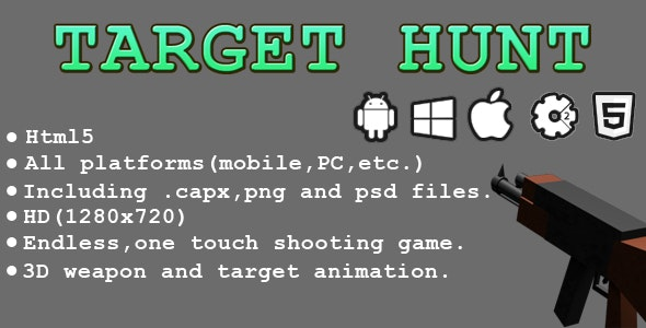 Target Hunt - HTML5 Game - Capx - CodeCanyon Item for Sale